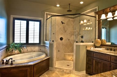 corner tub with shower ideas redesign concepts