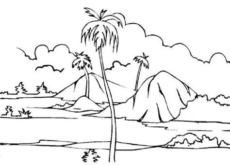 Paddy Field Landscapes Coloring Pages Bulk Color