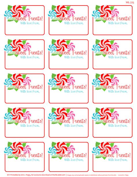 printable labels and tags for gifts worldlabel peppermint printable labels tags