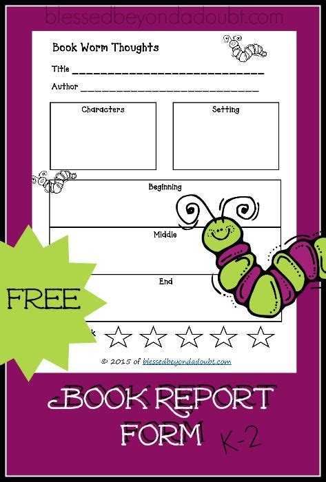 free book report form free printable book report form so best free