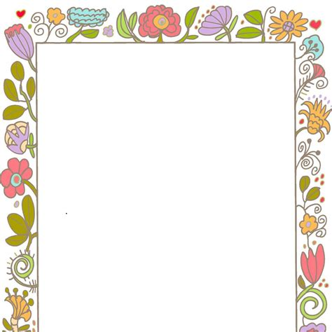 printable paper with flower border borders frames vintage style decorative cute invite
