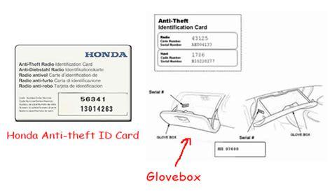 anti theft code for honda civic radio honda crv radio code