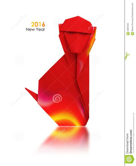 new year monkey origami new year monkey stock photo image 62887003