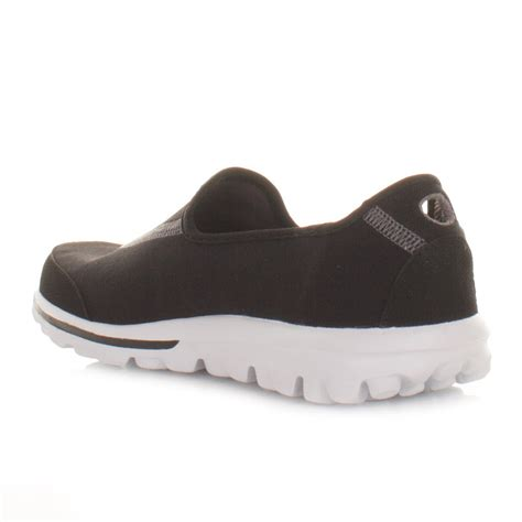 Go Walk Skechers by Womens Skechers Go Walk Black White Comfort Fitness Shoes