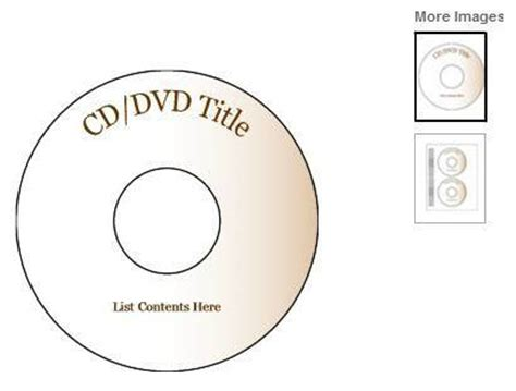 Word Vorlage Cd Label Create Your Own Cd And Dvd Labels Using Free Ms Word Templates