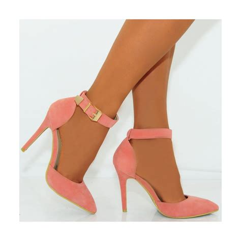 coral high heels coral pink faux suede pointed stiletto high heel shoes