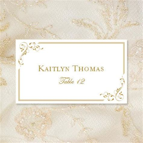wedding tent card templates printable place cards quot elegance quot in gold editable word doc