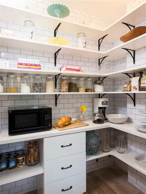 microwave  pantry design ideas remodel pictures