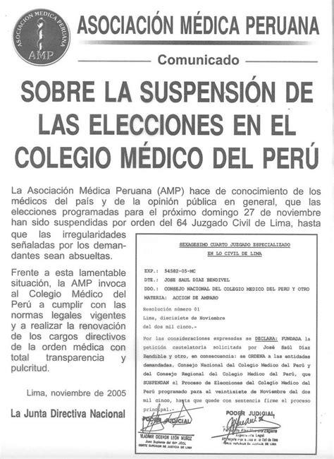 elecciones en el colegio de enfermeros del per consejo salud mentiras verdaderas 2005