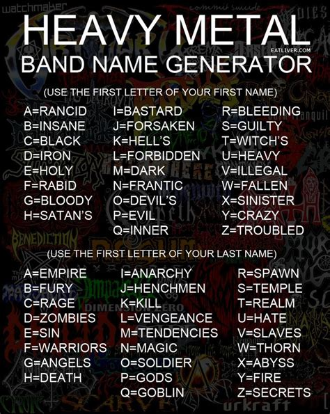 name maker heavy metal name generator random metal