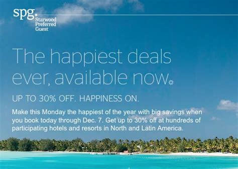 Starwood Gift Card Discount - cyber monday deal round up free gift card travel discounts and more million mile