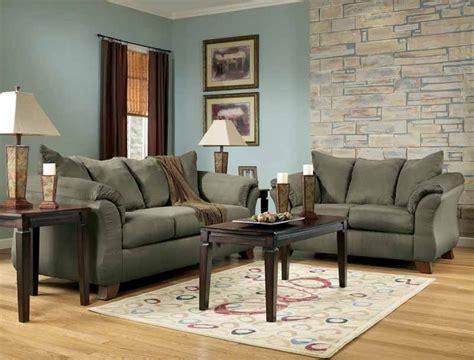 green ashley furniture couch durapella sage sofa set by signature design