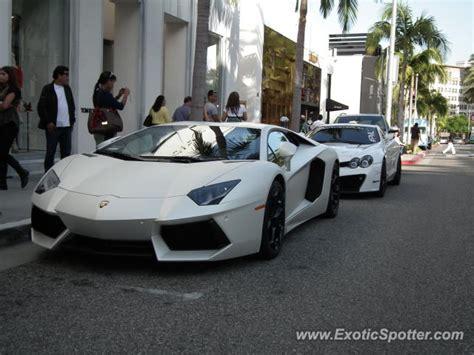 Beverly Lamborghini Lamborghini Aventador Spotted In Beverly California