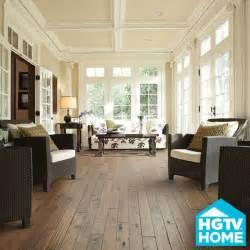 wood floor in sunroom house
