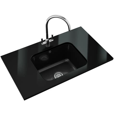 Black Kitchen Sinks And Taps Franke V And B Designer Pack Vbk 110 50 Ceramic Black Sink And Tap 126 0184 379