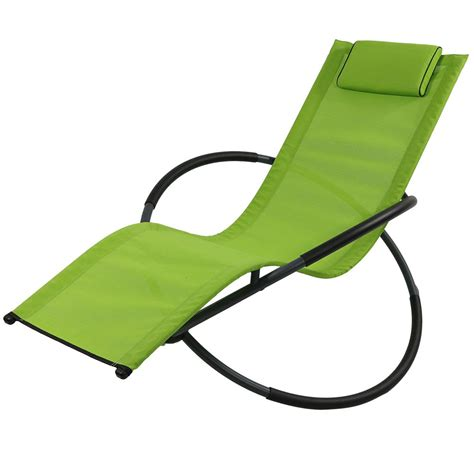 Zero Gravity Rocking Lounger w/Pillow, Orbital, Folding