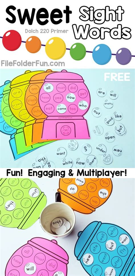 printable games to learn sight words free printable sight words game for kindergarten sweet