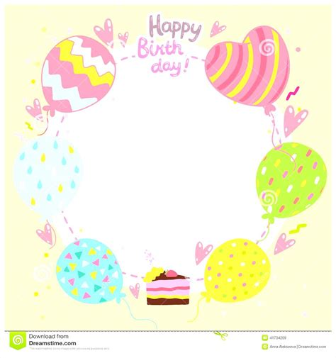 birthday photo card template birthday card templates free mughals