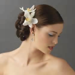 hair flowers orchid floral hair clip pin bridal hair accessories