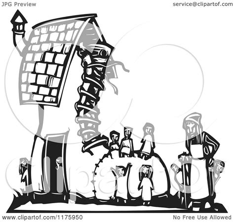 shoe house cartoon cartoon of an old woman with kids at a shoe house black and white woodcut royalty