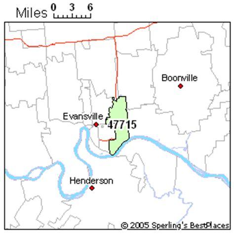 zip code map evansville in best place to live in evansville zip 47715 indiana