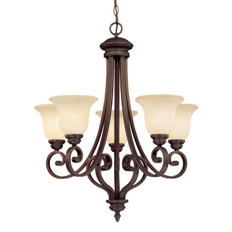 Bronze Chandelier Lighting Shop Millennium Lighting Oxford 5 Light Rubbed Bronze Hardwired Standard Chandelier At Lowes