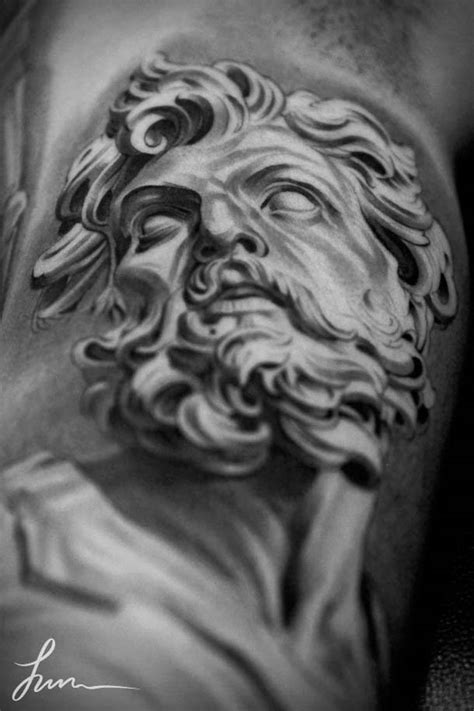 greek statue tattoo 30 beautiful tattoos by jun cha between ancient greece