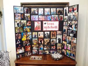 picture board ideas photo memory board display that i made for tess s graduation i also placed some of
