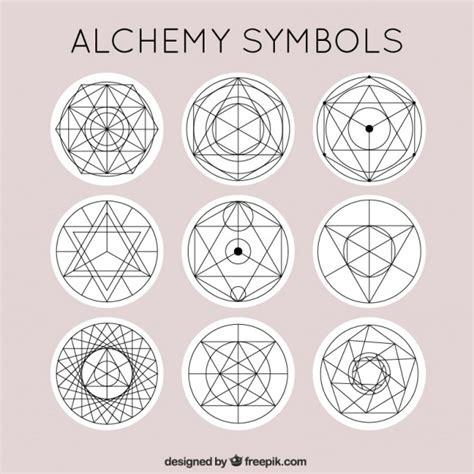 imagenes de simbolos alquimistas cute alchemy symbols vector free download