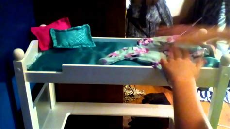 journey girls loft bed me setting my doll bed up journey girl loft bed youtube