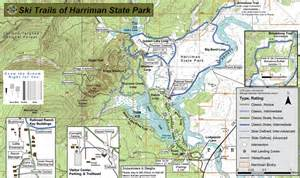 Harriman State Park Map by Harriman State Park Ski Trail Maplets