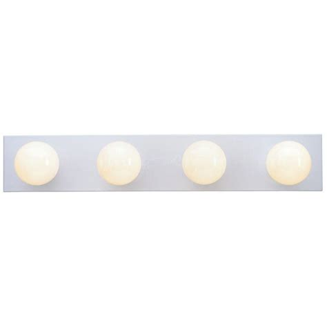 home depot bathroom light bars westinghouse 4 light white interior bath bar light 6659500
