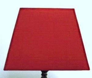 l shades 14 inches high rectangular l shades dar s1076 red rectangle shade for
