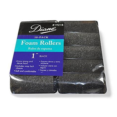 Foam Zhi diane foam rollers black 1 quot 10 bag daily deals daily deals