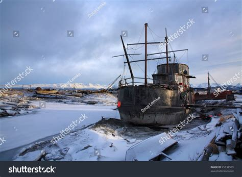 boat salvage yard san francisco old boat junk yard homer alaska stock photo 25134559
