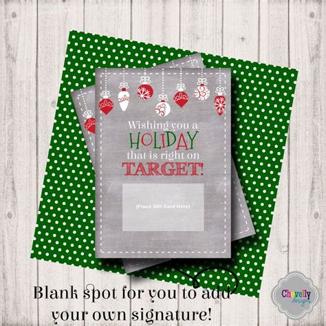 instant printable gift cards instant download target holiday gift card printable