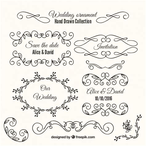 Wedding Box Ornaments by Variety Of Wedding Ornaments And Frames Vector