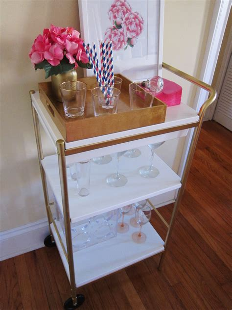 ikea cart hack history in high heels diy ikea bar cart hack