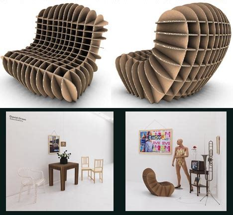 diy design flat pack furniture eco friendly cardboard chair designs
