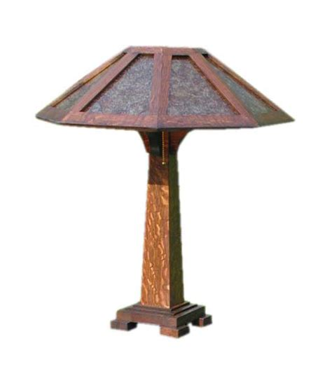 mission style mica table craftsman table l mission style l mica shade