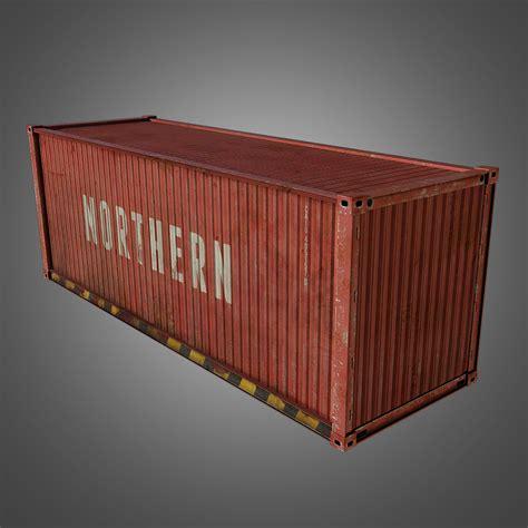 conex storage containers 3d model cargo container conex vr ar low poly obj fbx