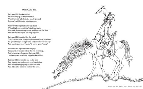room by shel silverstein backward bill character traits text evidence shel silverstein baby rooms