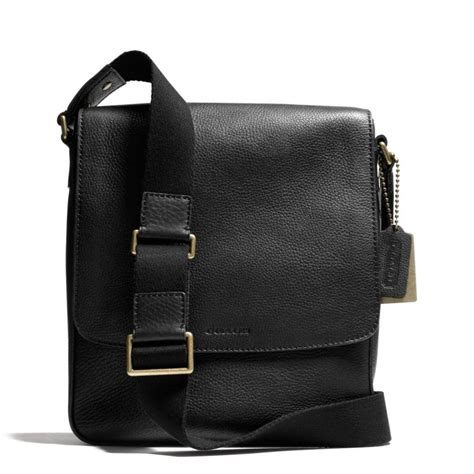 Coach Pebbled Leather Bag by Coach Bleecker Map Bag In Pebbled Leather In Black For Brass Black Lyst