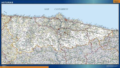 asturias mapa de carreteras 8499355900 mapas asturias mapas posters mundo y espa 241 a