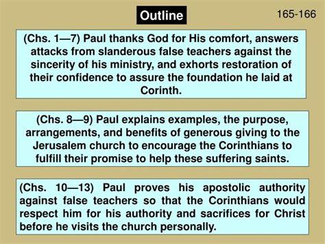 Outline 2 Corinthians 9 by Ppt 2 Corinthians Powerpoint Presentation Id 2937232