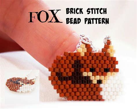 fox beading pattern beaded animals delica brick