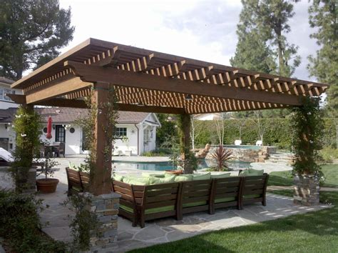 Patio And Pergola Plans Covered Pergola Plans Patio Contemporary With Climbing