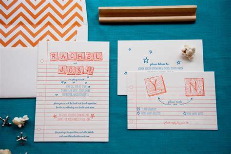 Josh S Scrabble Letterpress Wedding Invitations