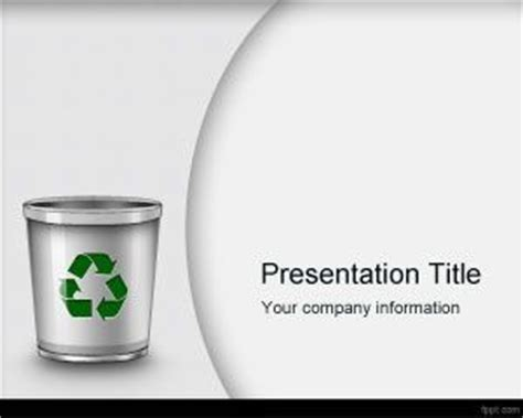 waste management powerpoint template ecology recycle powerpoint templates