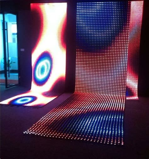 led curtain screen price china led video wall soft flexible led curtain for stage